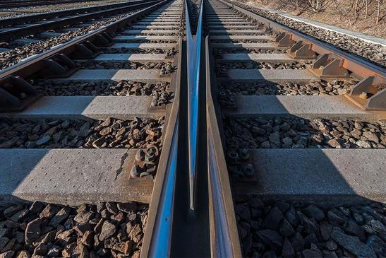 Railtrack close up