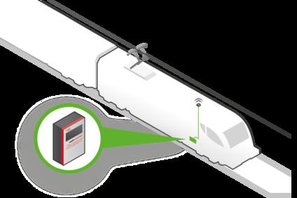 Sketch of a locomotive with railpowerbox