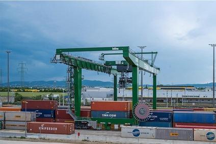 Aufnahme Güterzentrum Wien Süd aus dem Krankorb