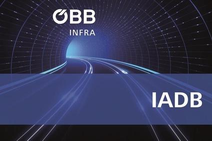 Teaserbild, Tunnel mit Schienenstrang und Text IADB