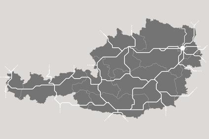 Grafik einer vereinfachten Österreichkarte