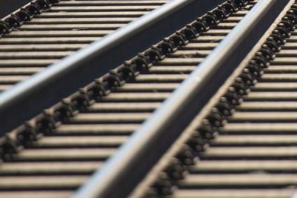 Blick auf eine Schiene