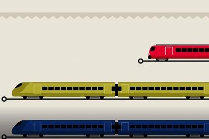 Grafik mit Zügen