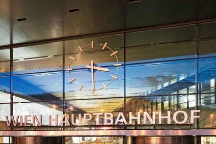 Eingang beim Wiener Hauptbahnhof