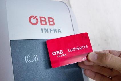Authentifizierung mit der ÖBB E-Ladekarte