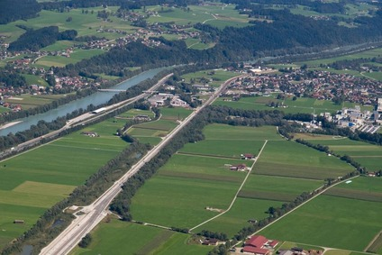 Blick auf die Strecke zwischen Schaftenau und Kundl