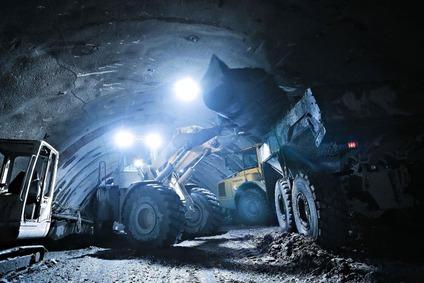 Baggerarbeiten im Brenner Basistunnel bei Schuttern