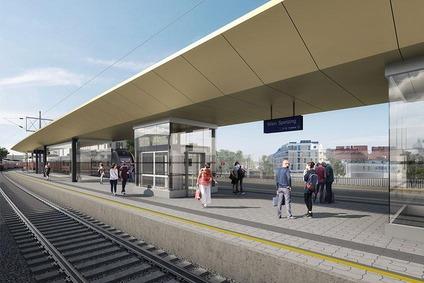 Verbindungsbahn Haltestelle Speising Bahnsteig