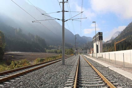 View of the track between Linz and Selzthal, which is sectionwise double-tracked