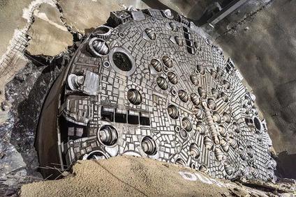 Bohrschild der Tunnelbohrmaschine Kora