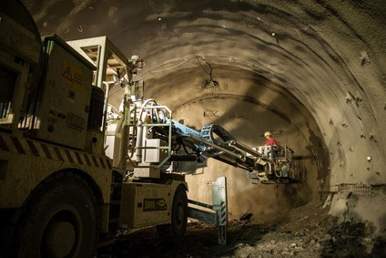 Tunnel work at the Koralm.