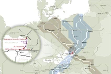 Streckenkarte der Nordbahn - Fokus Teilabschnitte