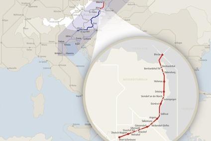 Streckengrafik der Nordbahn.