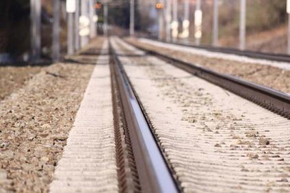 Zweigleisiger Schienenstrang.