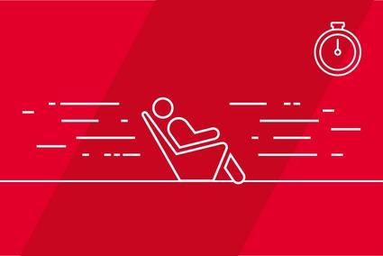 Grafik, die mittels Piktogrammen die Verbindung zwischen Geschwindigkeit und Komfort zeigt