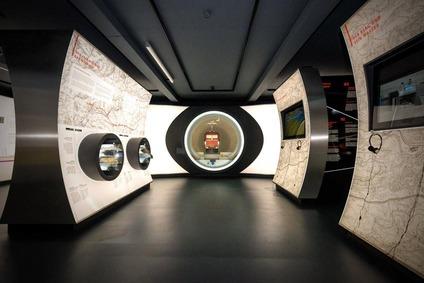Ausstellung in der Infowelt Semmering Basistunnel.