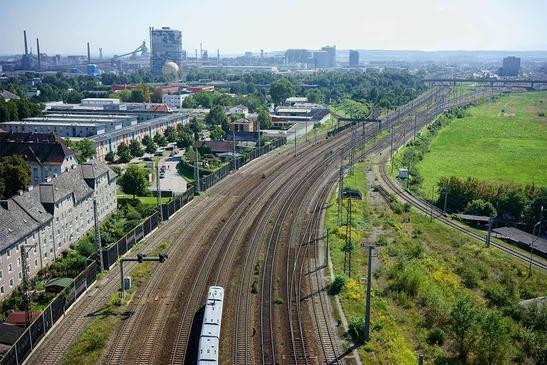 Bahnstrecke bei Linz