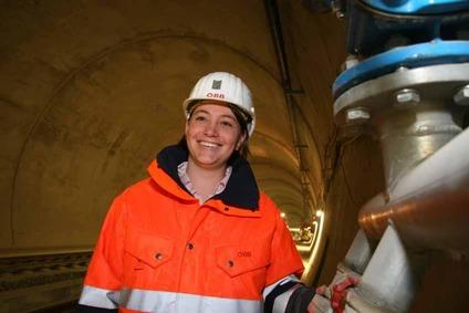 Employee inside a tunnel