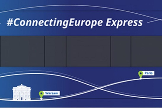 Part of the Connecting Europe Express train