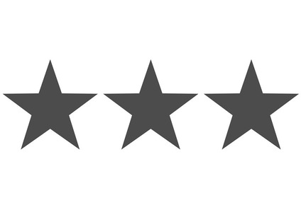 Symbol for rating with grey stars