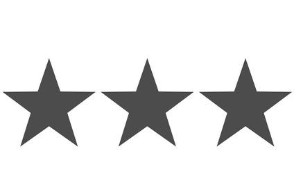 Symbol für Rating mit grauen Sternen