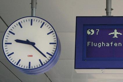 Clock at the station platform