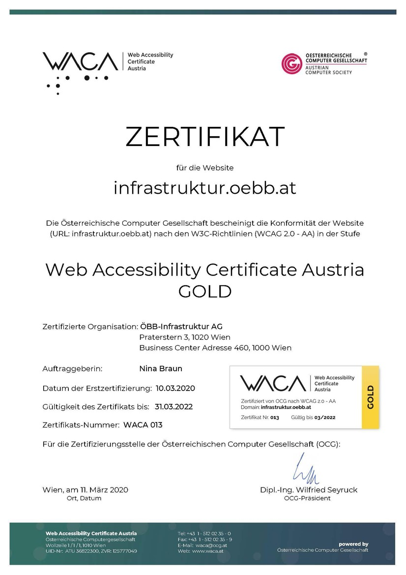 Gold certification Waca