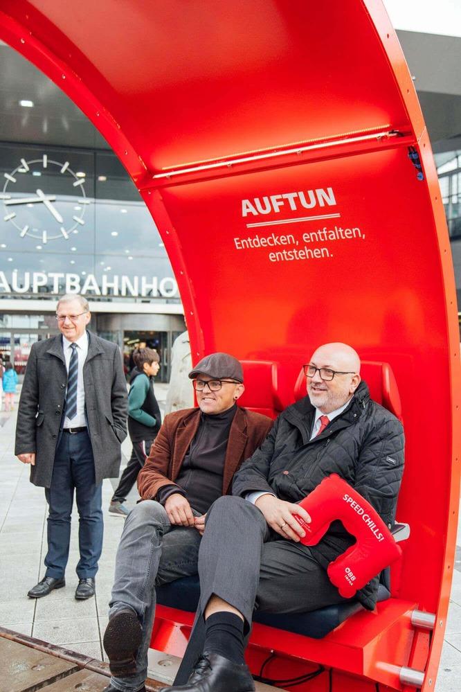 """Andreas Matthä eröffnet die """"InfoRail"""" Ausstellung."""
