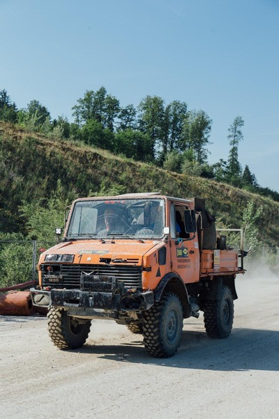 This picture shows a Mercedes Unimog.