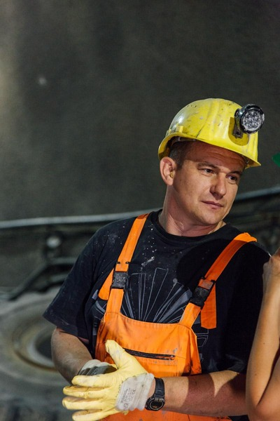 This picture shows a miner.