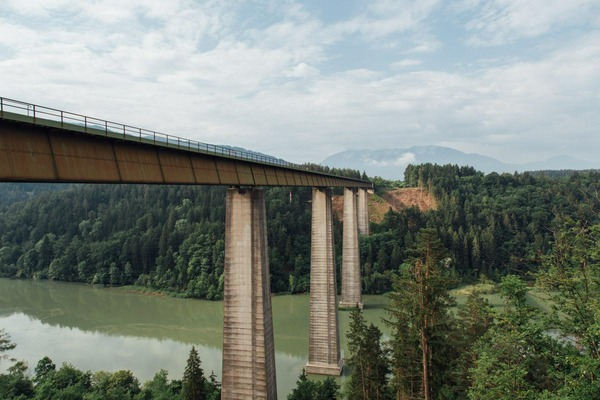 This picture shows a railway bridge.
