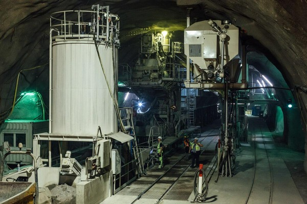 This picture shows a cement mixing plant.