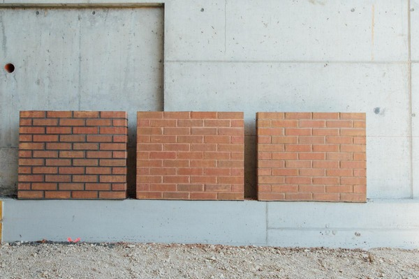 three different types of possible wall cladding