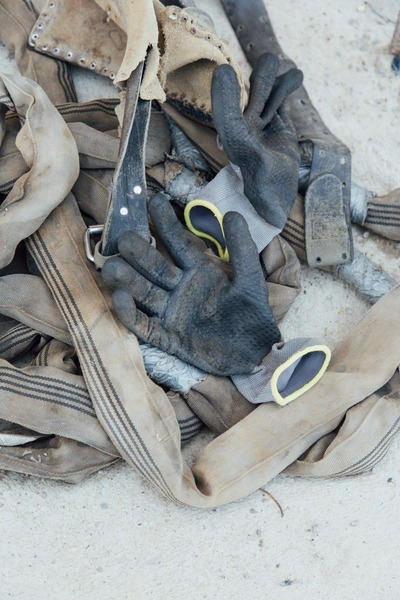 working gloves of a construction worker