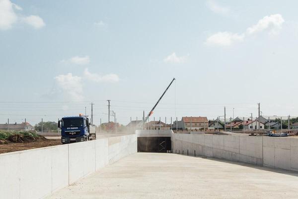 Construction of an underpass