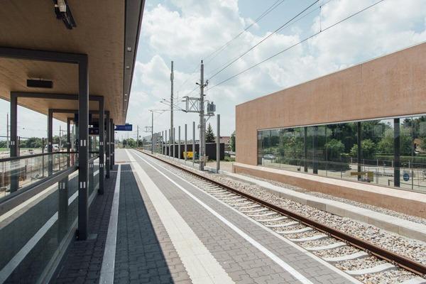 Photo of the new railroad platform