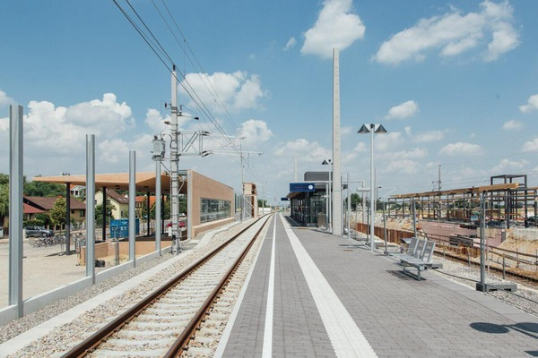 Station is partially completed - construction site in the background
