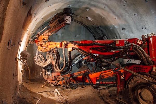 Tunnelbohrer in Aktion