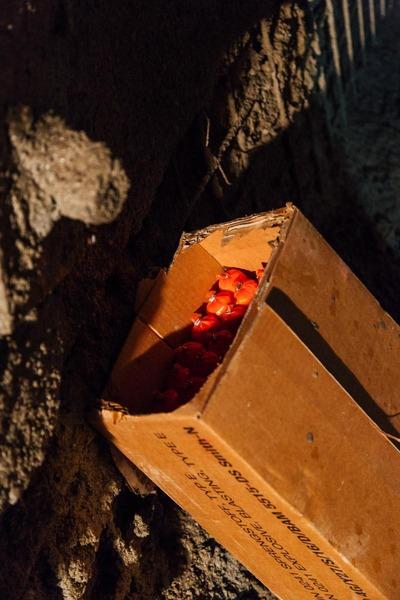 Kiste mit Sprengstoff