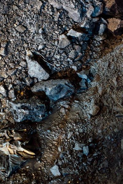 Ausgebrochenes Gestein
