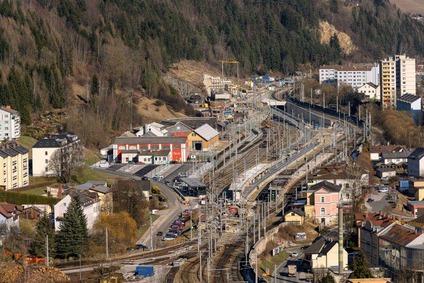 Der Bahnhof Mürzzuschlag im März 2021