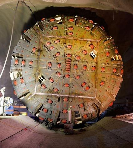Bohrkopf des Tunnelbohrers