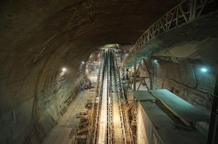 Förderband im Zentralbereich Tunnelabschnitt Fröschnitzgraben