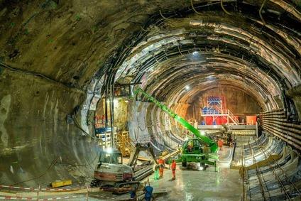 Umfangreiche Bauarbeiten im Tunnelabschnitz Göstritz, 2019