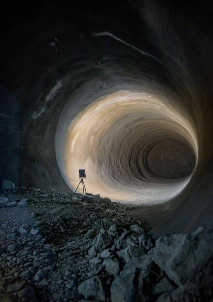 Ein Querschlag zwischen den beiden Tunnelröhren im Bereich Fröschnitzgraben