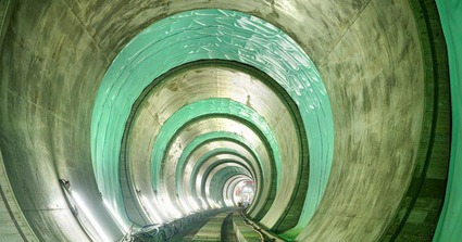 Tunnelbereich Gloggnitz mit Tunnelauskleidung im Sommer 2020