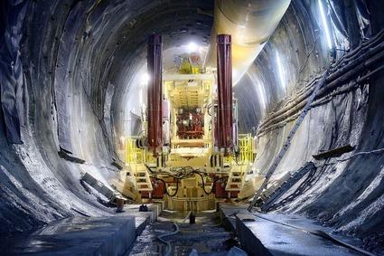 Maschinelle Betonarbeiten im Tunnelabschnitt Grautschenhof 2019