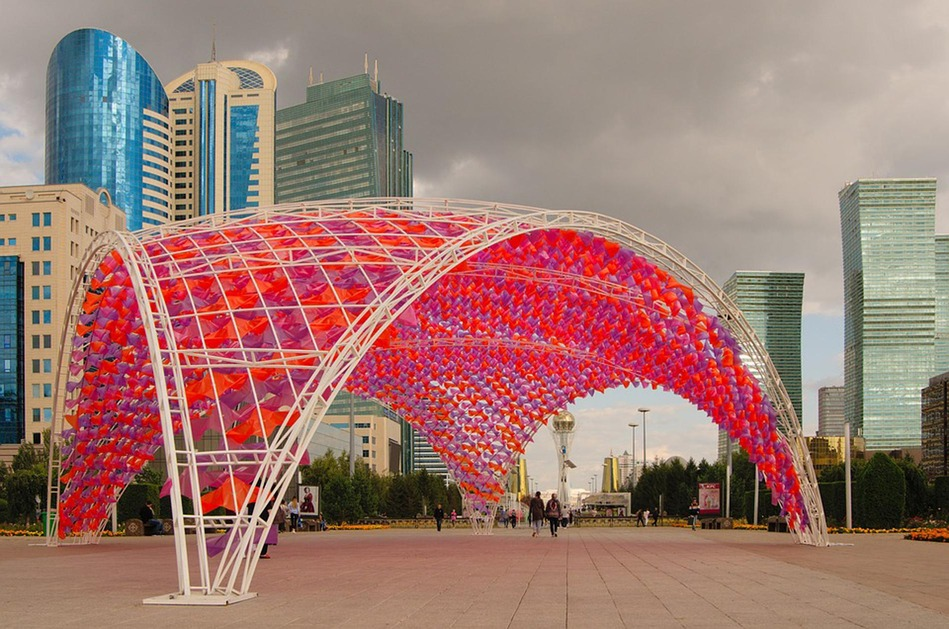 """Astana (bedeutet """"Hauptstadt"""" auf Kasachisch) ist seit 1997 die Hauptstadt von Kasachstan"""
