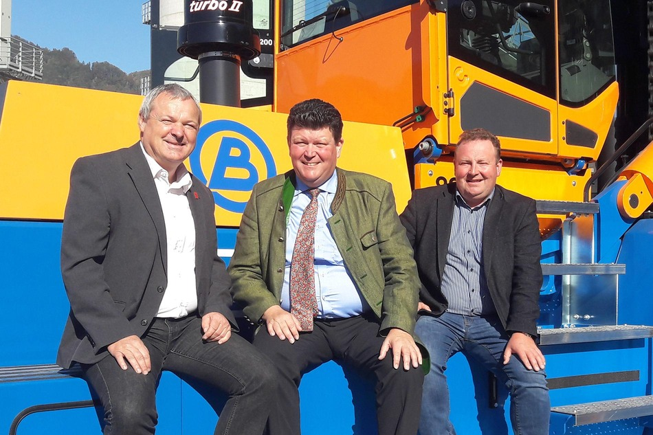 Walter Hofstetter (Sales WPBC, RCG), Kurt Bernegger (Geschäftsführender Gesellschafter, Bernegger), Heimo Gruber (Verantwortlicher für Bahnlogistik, Bernegger)<br/>