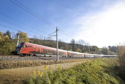 Zug in der Landschaft